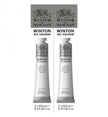 Tinta Óleo Winsor & Newton 200ml Winton Titanium White Pct C/2