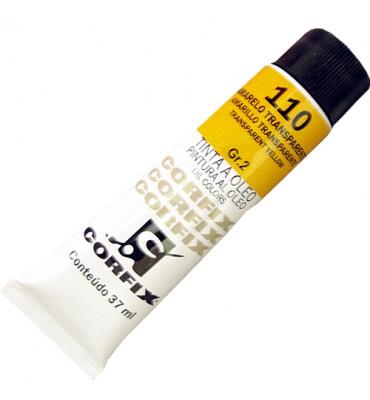 Tinta a Óleo Corfix 37ml 110 Amarelo Transparente G2