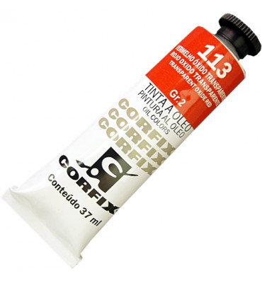 Tinta a Óleo Corfix 37ml 113 Vermelho Óxido Transparente G2