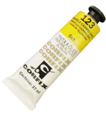 Tinta a Óleo Corfix 37ml 123 Amarelo Cádmio G1
