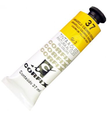 Tinta a Óleo Corfix 37ml 037 Amarelo Cádmio Escuro G3