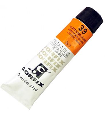 Tinta a Óleo Corfix 37ml 039 Alaranjado de Cádmio G3