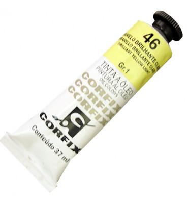 Tinta a Óleo Corfix 37ml 046 Amarelo Brilhante Claro G1