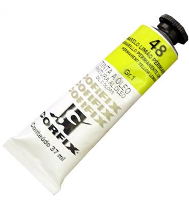 Tinta a Óleo Corfix 37ml 048 Amarelo Limão Permanente G1