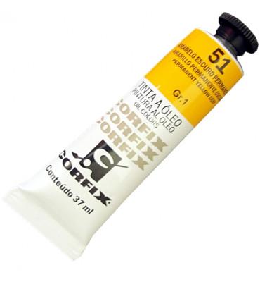 Tinta a Óleo Corfix 37ml 051 Amarelo Escuro Transparente G1