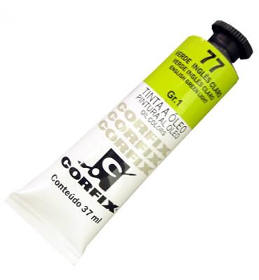 Tinta a Óleo Corfix 37ml 077 Verde Inglês Claro G1