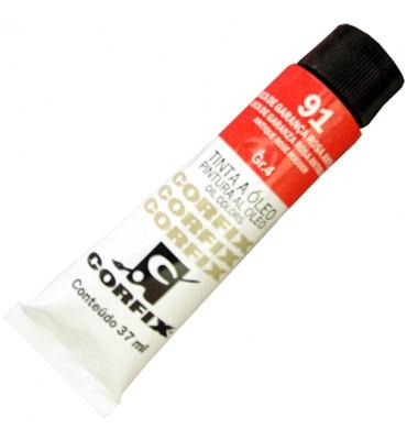 Tinta a Óleo Corfix 37ml 091 Laca de Garança Rosa Antiga G4