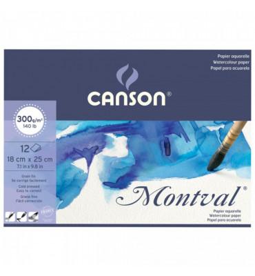Bloco de Papel Para Aquarela Montval Canson A5+ 300g/m²