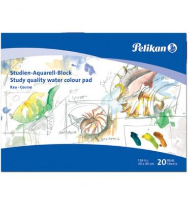Papel Para Aquarela e Desenho Pelikan 130g 20 folhas