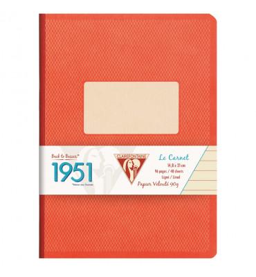 Caderno Pautado 1951 Clairefontaine A5 Vermelho