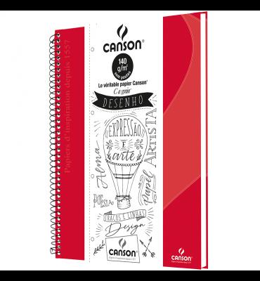 Caderno de Desenho A4 Vermelho Canson 40 Folhas Universitário