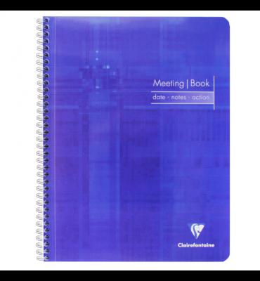 Caderno de Anotações Meeting Book Clairefontaine A4+ Azul