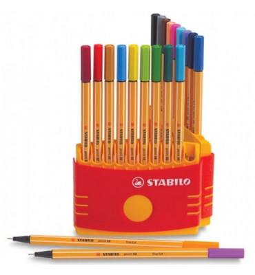 Estojo Caneta Stabilo Point 88 20 cores 8820/3
