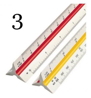 Escalímetro Trident 30cm 7830 3