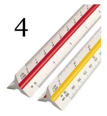 Escalímetro Trident 30cm 7830 4