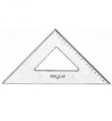 Esquadro Para Desenho com Graduação Acrílico 45° 32cm 1532