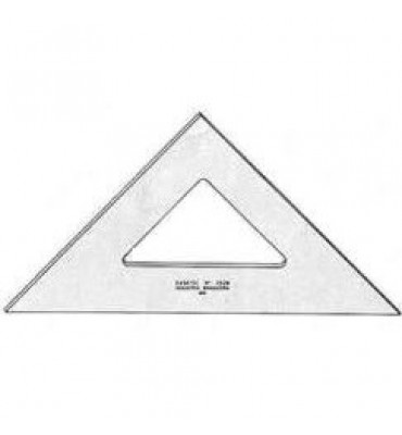 Esquadro para Desenho sem Graduação Acrílico 45° 12cm 2512