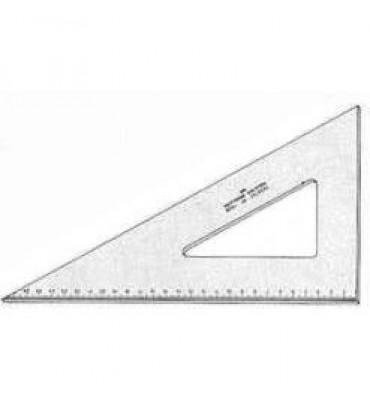 Esquadro Para Desenho com Graduação Acrílico 60° 21cm 1621