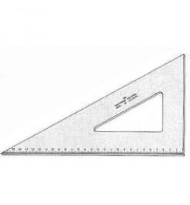 Esquadro Para Desenho com Graduação Acrílico 60° 32cm 1632