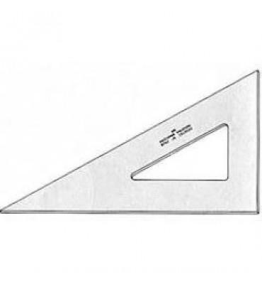 Esquadro para Desenho sem Graduação Acrílico 60° 12cm 2612