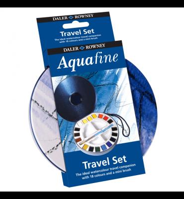Estojo Aquarela Pastilha Daler Rowney Aquafine 18 Cores + Pincel