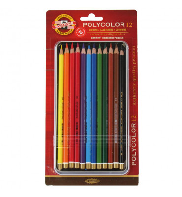 Lápis Polycolor Artístico Para Desenho 12 Cores