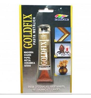 Goldfix Pasta Metálica Corfix Ouro Pálido 20ml