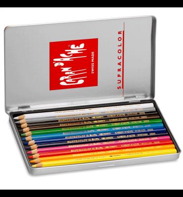 Lápis Aquarelável Caran D'Ache Supracolor 12 Cores