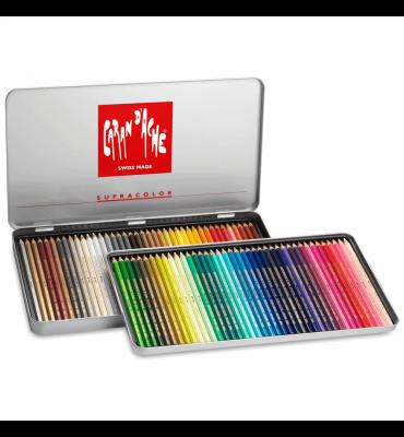 Lápis Aquarelável Caran D'Ache Supracolor 80 Cores
