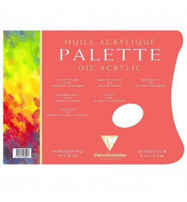 Bloco de Papel Paleta Óleo e Acrílica Clairefontaine A4 90g C/40