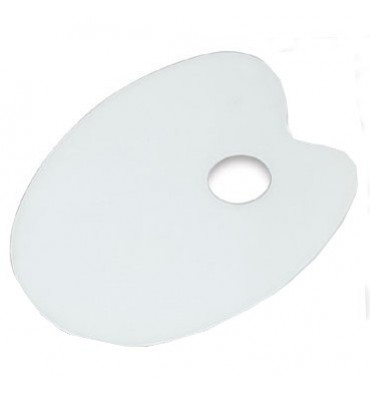 Paleta Para Pintura Trident Fórmica Oval 23x31cm 12413