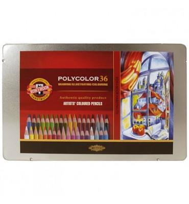 Lápis Polycolor Artístico Para Desenho 36 Cores