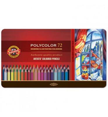 Lápis Polycolor Artístico Para Desenho 72 Cores