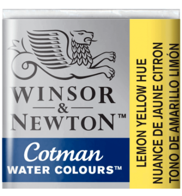 Tinta Aquarela Pastilha Cotman Winsor & Newton Lemon Yellow Hue 346