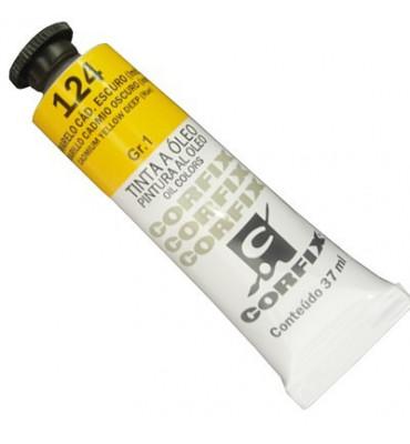 Tinta a Óleo Corfix 37ml 124 Amarelo Cád. Escuro G1