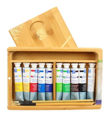 Estojo de Tinta Óleo Lefranc & Bourgeois Coffret Natura Box