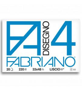 Bloco Fabriano 4L 220g/m² 33x48cm 20 Folhas