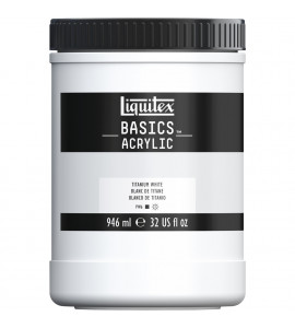 Tinta Acrílica Liquitex Basics 432 Titanium White 946ml