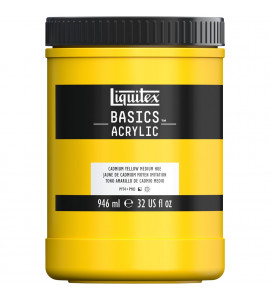 Tinta Acrílica Liquitex Basics 161 Cadmium Yellow Medium 946ml