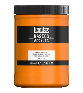Tinta Acrílica Liquitex Basics 720 Cadmium Orange 946ml