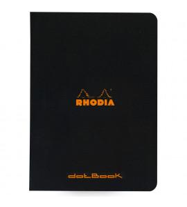 Caderno Pontilhado Dot Rhodia Capa Preta A5