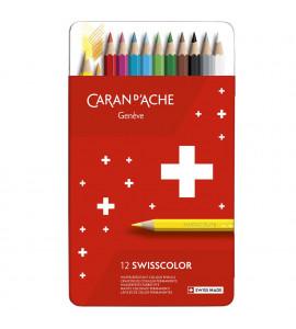 Lápis de Cor Swisscolor 12 Cores Permanente