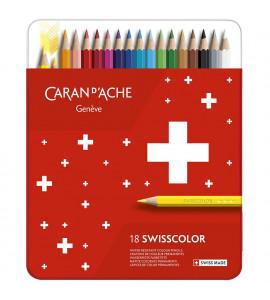 Lápis de Cor Swisscolor 18 Cores Permanente