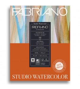 Bloco Fabriano Watercolor Satinado 300g/m² 20.3x25.4cm