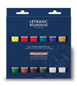 Tinta Acrílica 12 Cores Lefranc e Bourgeois 20ml