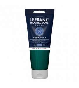 Tinta Acrílica Lefranc & Bourgeois 200ml 598 Phthalocyanine Green
