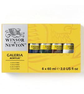 Kit Tinta Acrilica Galeria Winsor & Newton 06 Cores 60ml