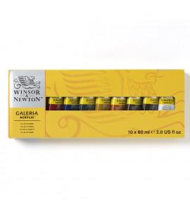 Estojo Tinta Acrilica Galeria Winsor & Newton 10 Cores 60ml