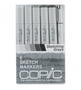 Copic Markers 06 Sketching Grays