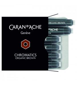 Cartucho Caneta Tinteiro Caran d'Ache Chromatics Organic Brown C/6